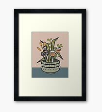 Cheeky Modern Botanical Framed Print