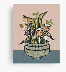 Cheeky Modern Botanical Canvas Print