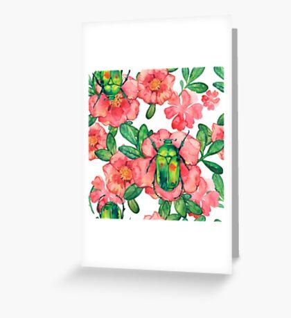 - Wild rose pattern 3 - Greeting Card