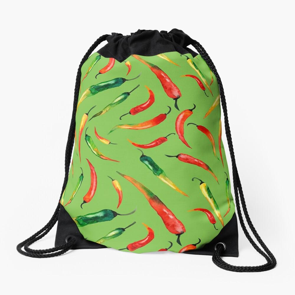 - Chilli-Muster (grün) - Turnbeutel