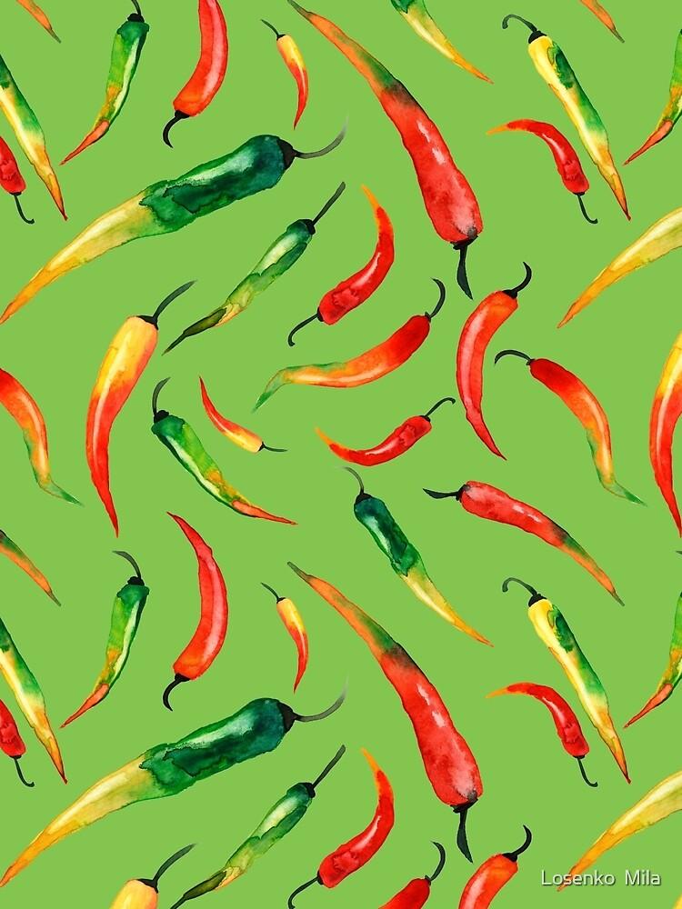 - Chilli-Muster (grün) - von Losenko