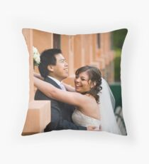 We did it - wedding image Throw Pillow