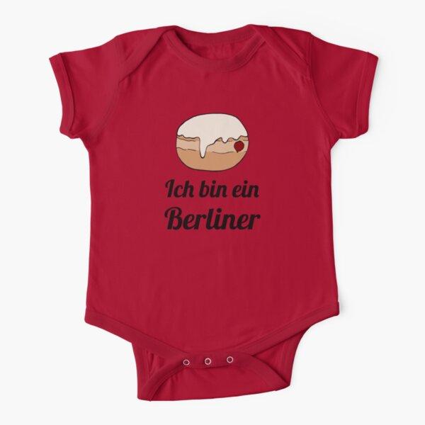 Ich bin ein Berliner Short Sleeve Baby One-Piece