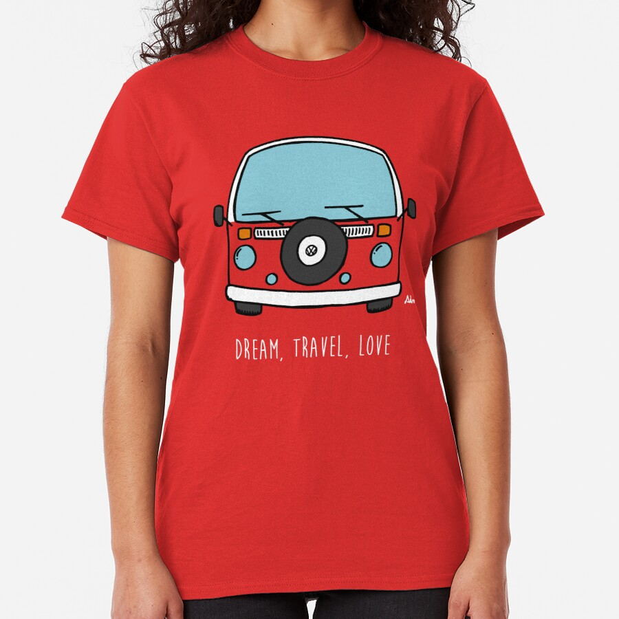 Dream, Travel, Love Camiseta clásica