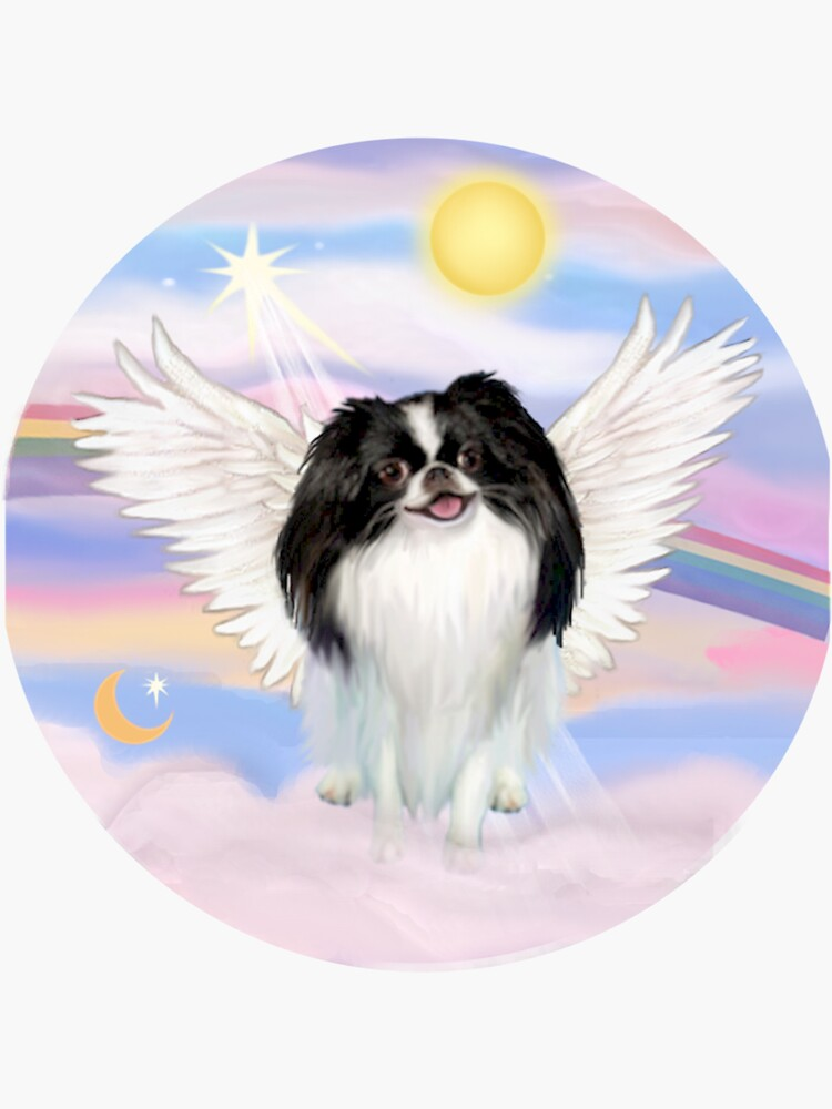 Japanese Chin (black-white) in Heavens Clouds by JeanBFitzgerald