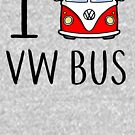 «I Love VW Bus» de Verdexdentro