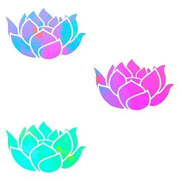 paquete de pegatinas de flores de loto de lolosenese