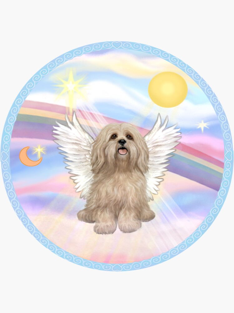 Lhasa Apso in Heavens Clouds by JeanBFitzgerald