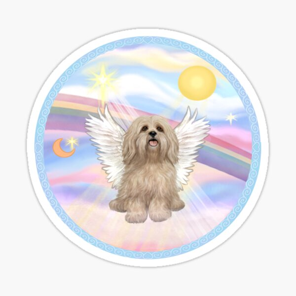 Lhasa Apso in Heavens Clouds Sticker