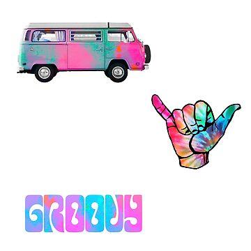 colorido paquete de pegatinas hippie de lolosenese