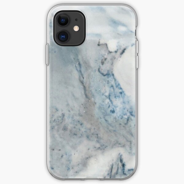 Cyan Blue Marble iPhone Soft Case