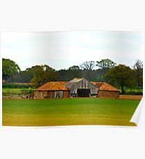 Countryside Barns Poster