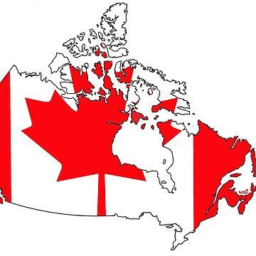 Kanada Karte mit kanadischer Flagge von Havocgirl