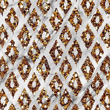 Bronze art deco ikat by peggieprints