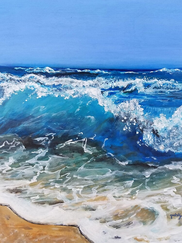 Rough Sea Painting by gretzky
