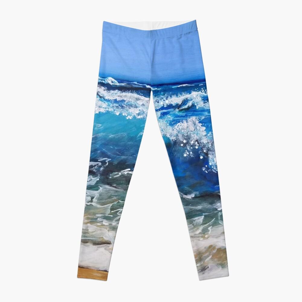 Rough Sea Painting Leggings