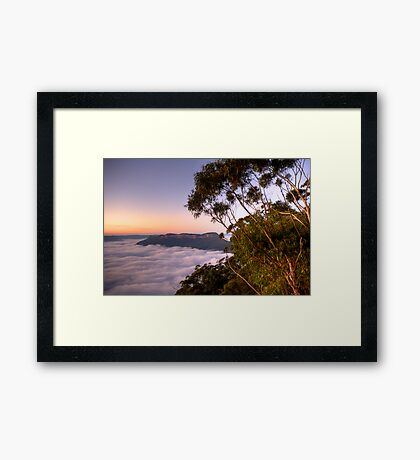 The View - Blue Mountains World Heritage Area - The HDR Experience Framed Print