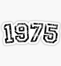 Year 1975 Vintage Birthday Sticker