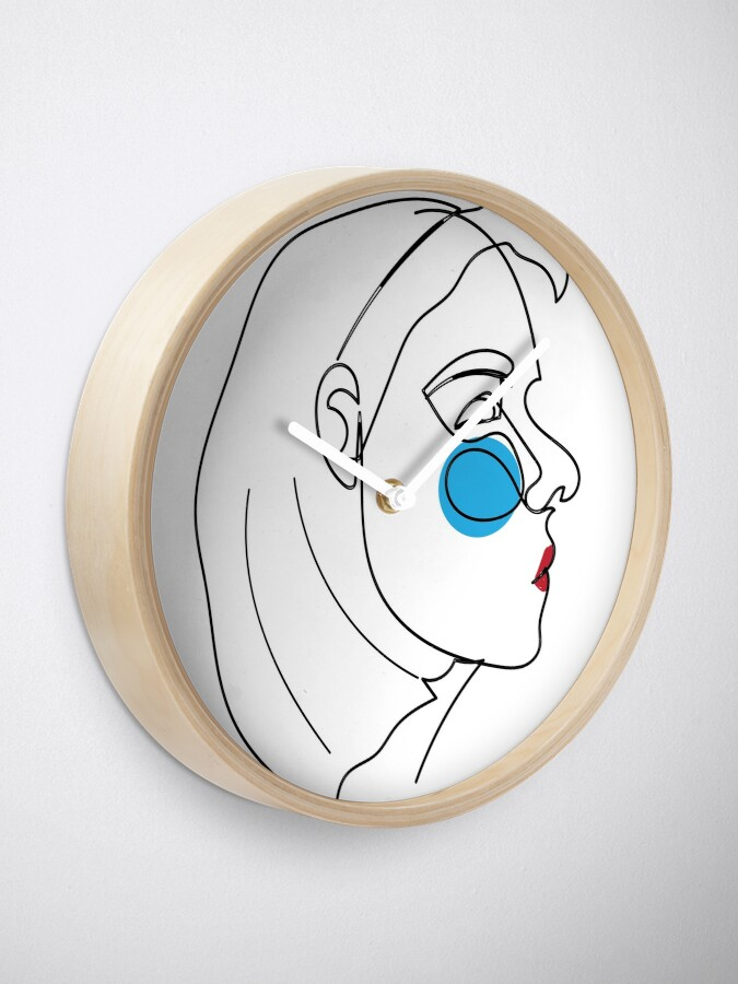 Abstract Woman Face Picasso Art Clock