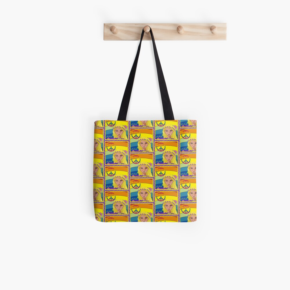 Flower Power and Stardust Tote Bag