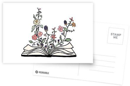 Blumen wachsen aus Buch von andilynnf