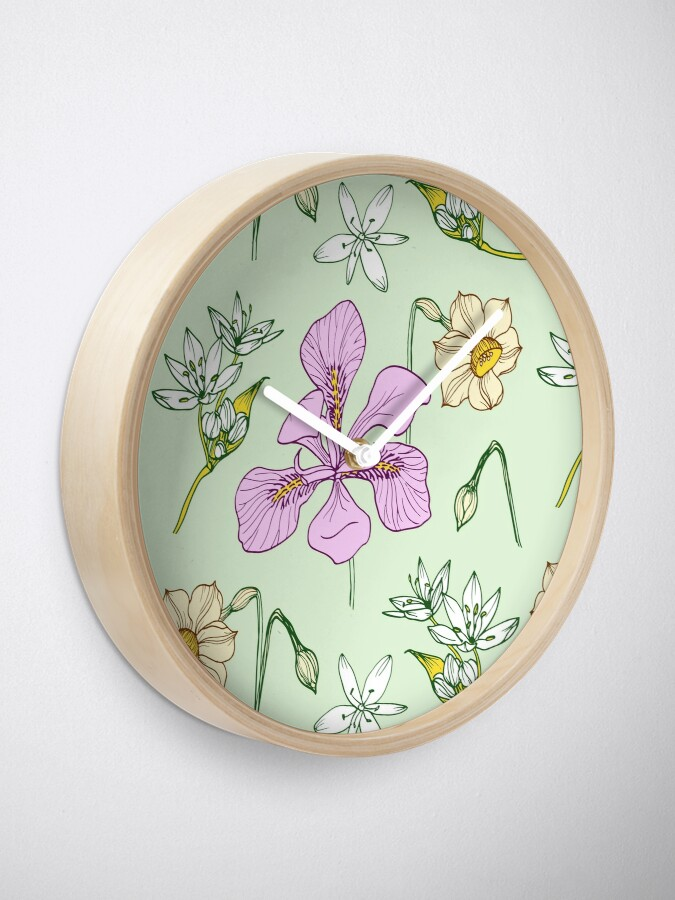 Alternate view of Spring Iris Clock
