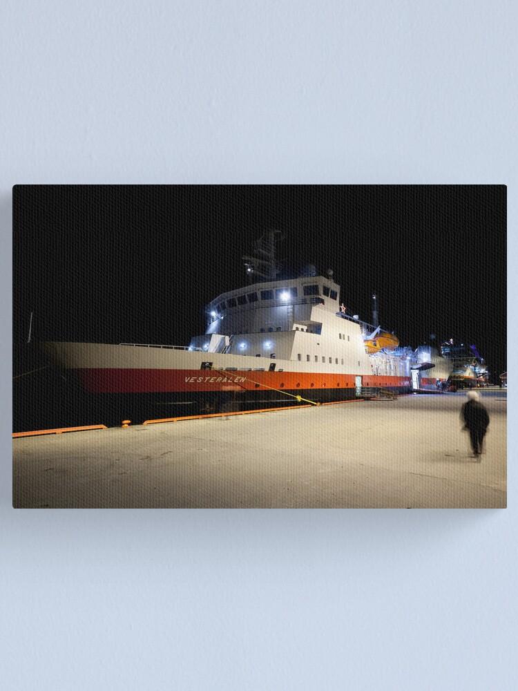 Alternate view of The Vesterålen at dock Canvas Print