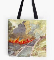 Veldfire in Magaliesburg Tote Bag