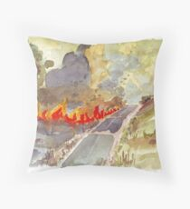 Veldfire in Magaliesburg Throw Pillow