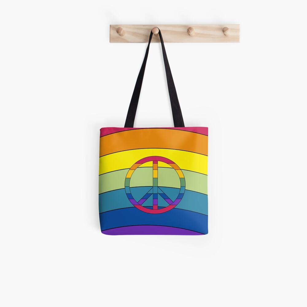 Peace in Rainbows Tote Bag