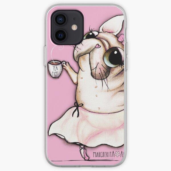 French Bulldog dancer, tea time iPhone Soft Case