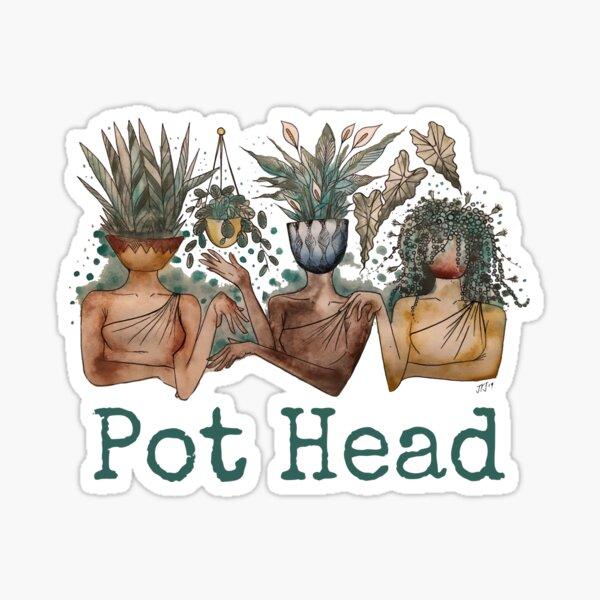 Pot Head ladies Sticker