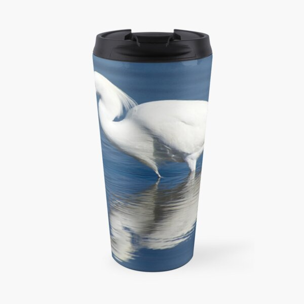 Bird series: Snowy Egret Travel Mug