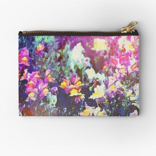 Garden Dragons Snap - Floral Zipper Pouch