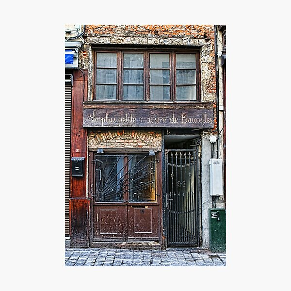 The smallest house in Brussels Photographic Print