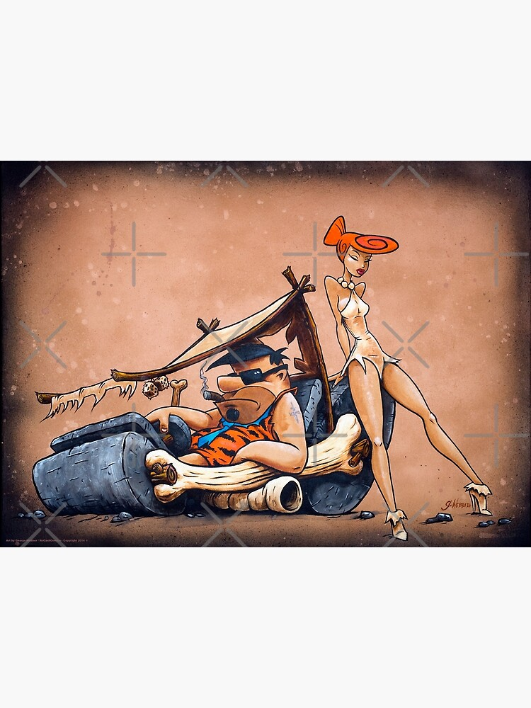 The Flintstones go Lowbrow by gWebberArts