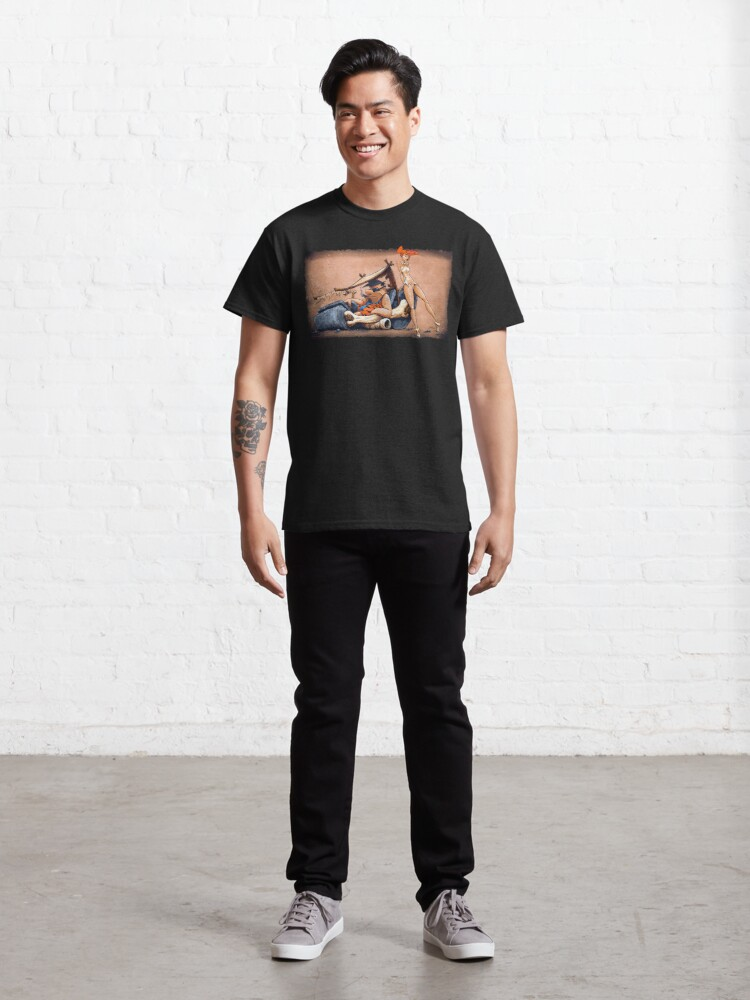 Alternative Ansicht von  Das sind die Feuersteine, die Sie schon immer wollten! Fred und Wilma gehen in diesem fantastischen Stück Garagenkunst den ganzen Weg zurückhaltend. Classic T-Shirt