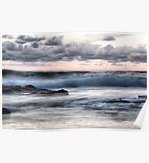 Dusk waves, Portugal Poster