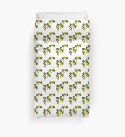 Wattle Fever - White Duvet Cover