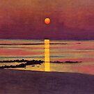 Weinlese Felix Vallotton Sunset 1913 von AllVintageArt