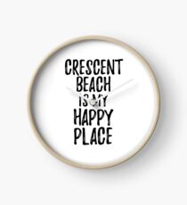 Reloj Crescent Beach Is My Happy Place Nostalgic Traveler Gift Idea Missing Home Souvenir