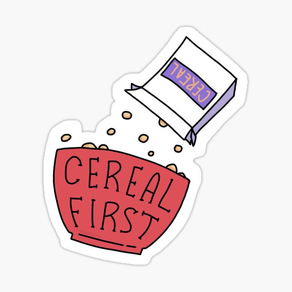 Pour Cereal First Stickers Sticker