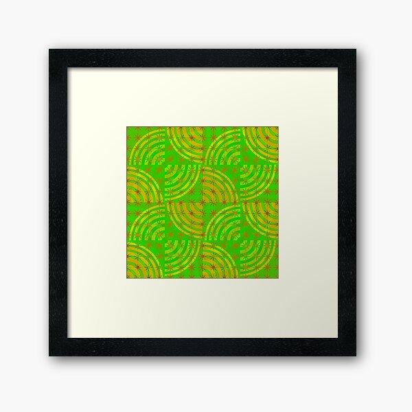 on-grid Framed Art Print