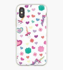 Einhorngeschenke, Herzen und Blumen iPhone-Hülle & Cover