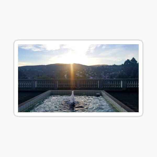 Sunset Over the Mountains from the Botanical Gardens Sticker