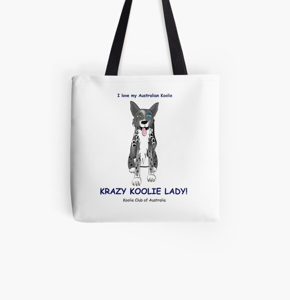 Krazy Koolie Lady All Over Print Tote Bag