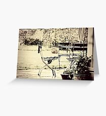 Table & Chairs Greeting Card
