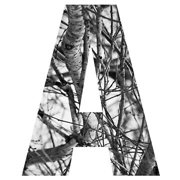 Tree letter A by PCollection