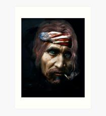 Old Hippie Art Print
