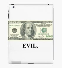 Money controls the world. iPad Case/Skin